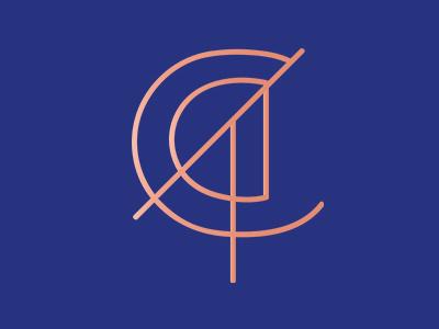 Clorinda Di Tommaso logo adobe artdeco typeography type vector art freelance brand and identity logodesign digital design freelance designer