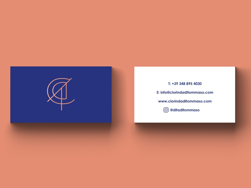 Business Cards for Clorinda Di Tommaso consultant brand branding forhire freelance logo assets cards buisness digital design freelance designer