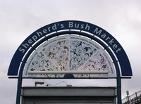 Shepherd's Bush Market graphics freehand forhire type digital design sign branding freelance illustraor freelance designer