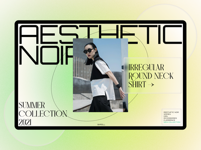 Aesthetic Noir digital concept promo grid typography swiss ux ui ui ux website web design design web