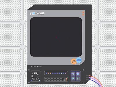 LOVO Machine minimal animation flat flat design motion cyber love retrowave futurewave ai monitor robot crt cyberpunk glitch