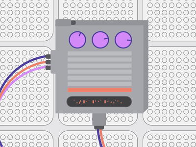 LOVO - Controller 1 of 4 animation flat computer dials data motion wires controls illustration flatdesign