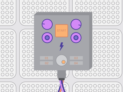 LOVO - Controller 2 of 4 minimal dials flat animation controls wired ui illustration motion