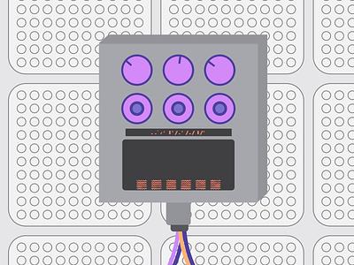 LOVO - Controller 3 of 4 controls dials minimal illustration flat motion animation