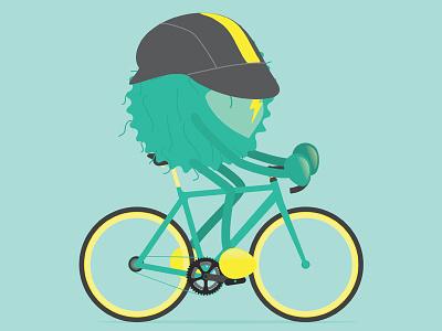 Tour De Rad bike character design maillot jaune bicycle cycling rad tour de france
