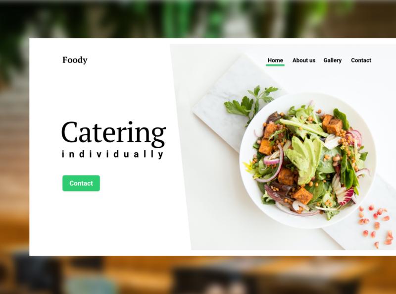 Catering / Restaurant Landing page v.2 first page landing page service food first design art website web ui minimal design