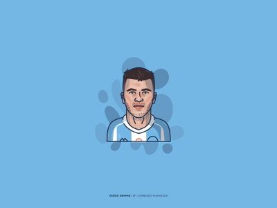 Diego Demme design soccer art soccer diego demme ssc napoli shapes adobe illustrator portrait graphic flat portrait flat face expression dribbble colors art
