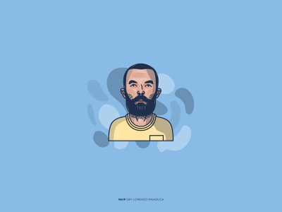 NAIP - X Factor Italy concept graphic character music xfactor naip flat portrait flat face expression dribbble colors art