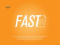 #Thirtylogos challenge day 17 - Fast