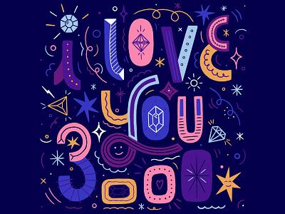 I Love You 3000 graphic design i love you 3000 avengersendgame avengers typography women in illustration lettering illustration hand lettering custom type hand drawn type