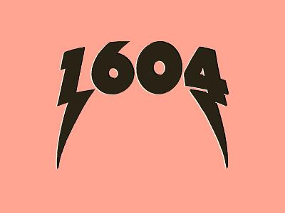 1604 branding logotype number logo logo logo design graphic design typography illustration custom type hand drawn type