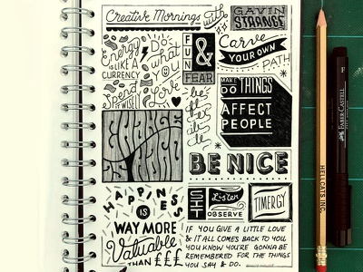 Doodle Notes illustration doodleaday notes creative morning homwork lettering custom type hand lettering hand drawn type