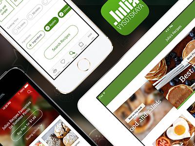 Julia's Recipes iphone ipad app ios7 recipes recipe food anyvoid