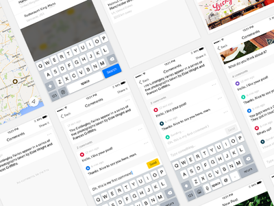 UI elements screen feed comments social iphone ios app ui