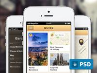 Guide App (free .psd)