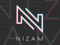 NIZAM DJ Logo Design and Branding