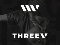 THREEV Sports & Active Wear Brand Logo Design CONCEPT