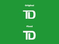 TD Bank Logo (Toronto Dominion) – Modern Redesign Concept