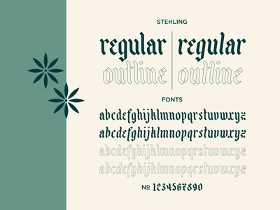 Stehling holidays christmas german blackletter typogaphy font design font