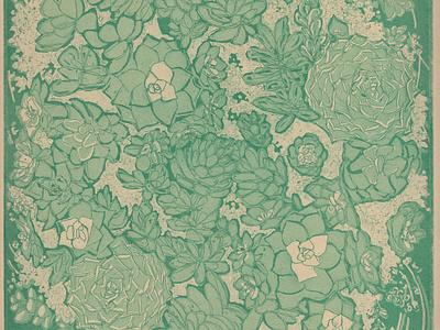 Intaglio Succulents succulents printmaking illustration intaglio