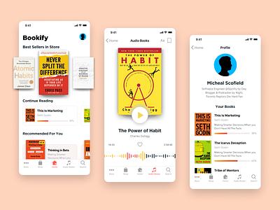 Bookify Mobile App Design | E-book Reader + Audiobook App mobile app design audiobook ebook ui design