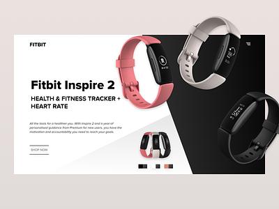 Fitbit Wearable Booking Site ecommerce tracker fitbit watch branding ui design