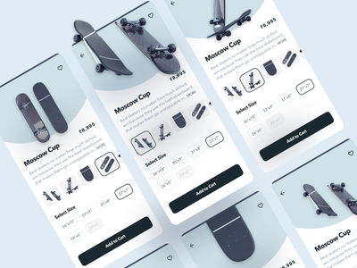 Skate Detail Mobile App Design ecommerce design skateboard skates mobile app design ui design