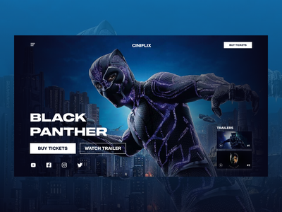 Black Panther Movie Ticket Booking Site theater tickets booking ecommerce design netflix movie mobile app design ui design