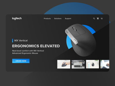 Logitech Vertical Mouse Booking Site computer ergonomy mx vertical logitech mouse ecommerce design ui design
