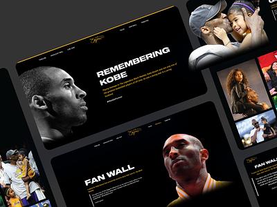 Kobe Bryant Website - All Screens case study casestudy responsive design kobe bryant kobe nba lakers ui design