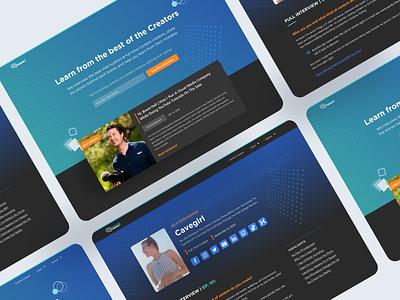 Creator Mindset Landing Page redesign blog podcast content design landing page design responsive design ui design