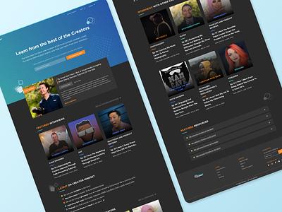 Creator Mindset Landing Page Design blog podcast content design landing page design responsive design ui design