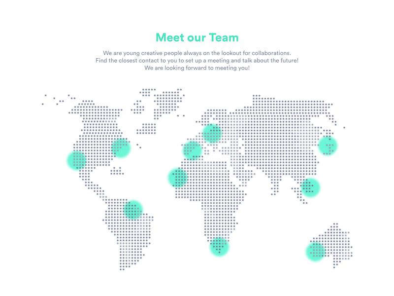 #029 Map modern world minimalistic team map uxdesign uidesign 029 challenge dailyui