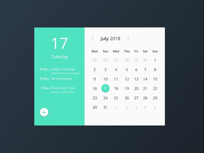 #038 Calendar event calendar uxdesign uidesign 038 challenge dailyui