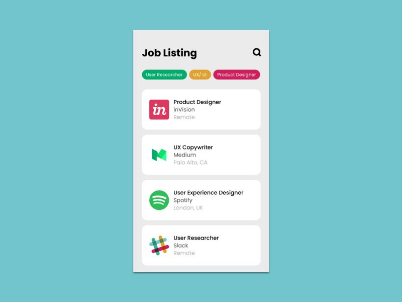 #050 Job Listing listing job redesign vector sketch illustration dailyuichallenge uxdesign uidesign dailyui challenge