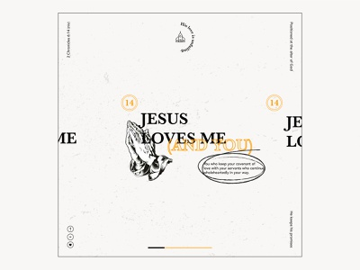 Jesus loves me (and you) layout design logo design christian jesus prayer christiandesign layout typography design illustration
