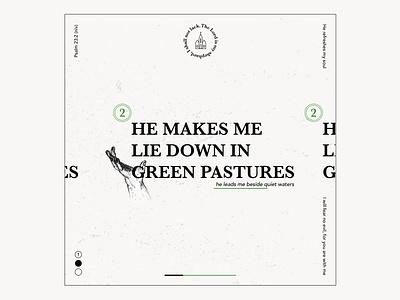 Green Pastures layoutdesign layout layout design handart typogaphy type graphic design typography design christiandesign design illustration
