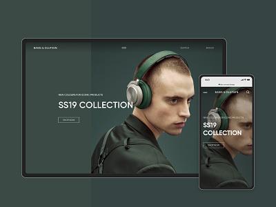 Bang & Olufsen Online Store (UI CONCEPT) ecommerce shop minimal typography website design web branding ui