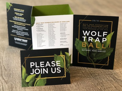 Wolf Trap Ball design typography event invitation invite