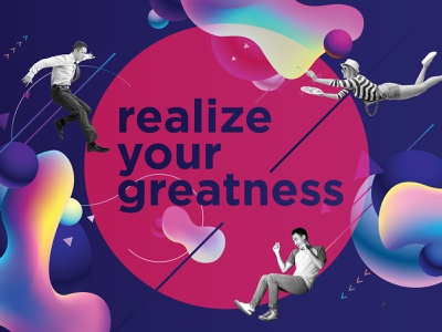 Realize Your Greatness Design motion colorful design typography