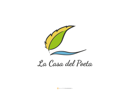 La Casa del Poeta - Logo vector illustration logo branding logo design