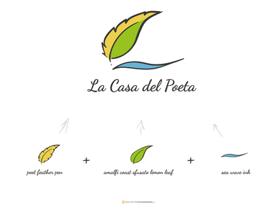 La Casa del Poeta - Logo design Concept vector concept logo illustration branding logo design