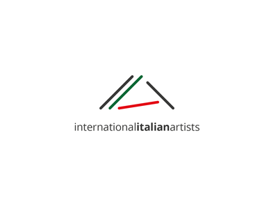 International Italian Artists - Logo concept vector logo branding logo design