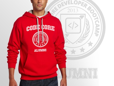 Alumni Hoodie school developer training vancouver canada logo apparel hoodie shirt clothing merchandise