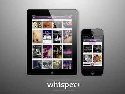 Whisper+ (Theoretical) ios ipad iphone app mockup vancouver bc