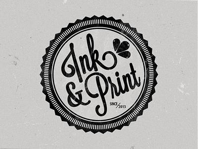 Ink & Print ink print logo font
