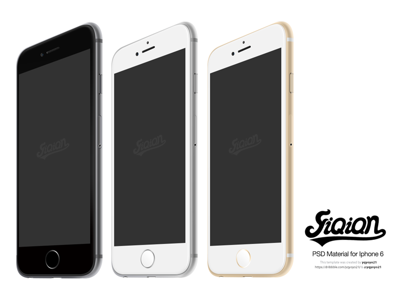 Free iPhone 6 Template [PSD] iphone 6 template