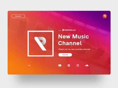 Robertsn Music youtube channel musician music ux ui