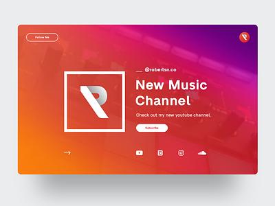Robertsn Music youtube channel musician music ux ui
