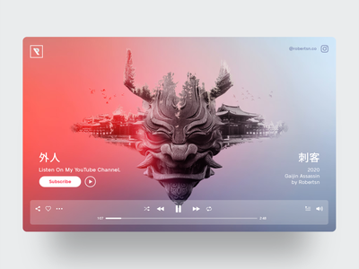 GAIJIN ASSASSIN album artwork music art japanese music concept webdesign ux ui